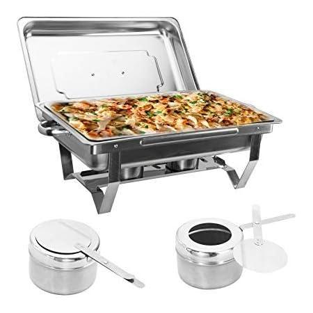 9L Buffet Warmhaltebehälter Edelstahl Roll-top Chafing Dish Speisenwärmer DE