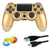 Juego Game-Controller für PS4, kabelloser Controller für Playstation 4 / Windows / Android / iOS, goldfarben