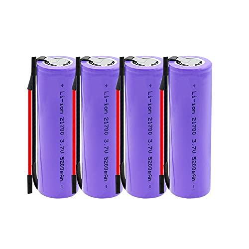 hsvgjsfa 21700 BateríAs Recargables 3.7v 5200mah Li-Ion, Conveniente para Walkie-Talkies con MicróFono 4PCS