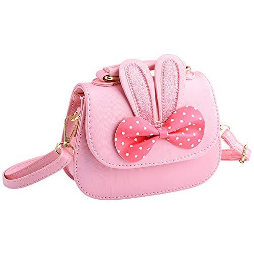 INSOUR Kleine Mädchen Handtasche Prinzessin Umhängetasche Schultertasche mit Süße Hasenohren