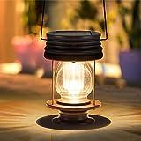 ランタン ソーラー 大きいサイズ ガーデンライト ベランダライト アンティーク ソーラーライト 屋外 防水 卓上ランタン 庭園灯 led 暖白色 自動点灯 間接照明 ガーデニングライト おしゃれ キャンプ 玄関 ガーデン