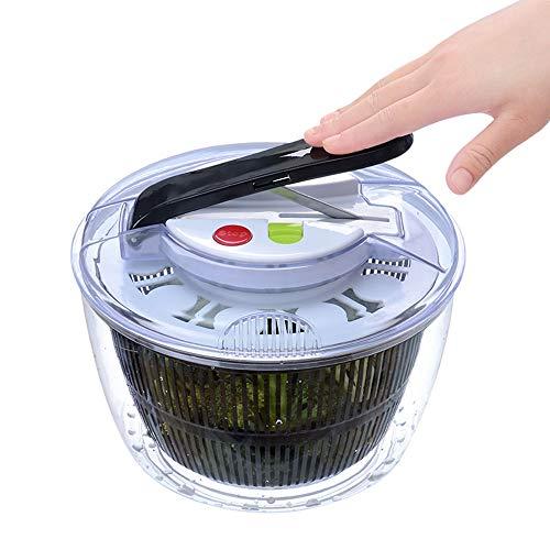 BCGT Salad Spinners, Large 5 L, Salad Spinners Lettuce Spinner, Salad Mixer Bowl, Vegetables Dehydrator Dryer Cleaner Basket Kitchen Dehydrator Baskets