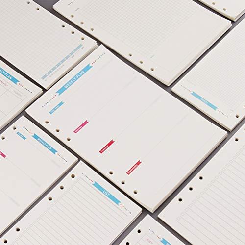 Gadpiparty A5 Refill Papier, 6- ringen Binder Papieren Vulling, Notebook Inserts Vullingen Lose- Blad Binder Papier voor…