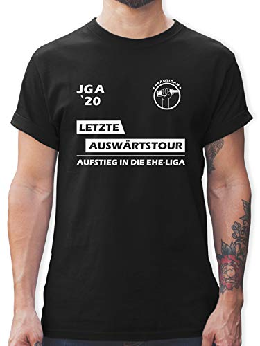 JGA Junggesellenabschied Männer - JGA 2020 Letzte Auswärtstour Bräutigam - L - Schwarz - JGA Shirts männer - L190 - Tshirt Herren und Männer T-Shirts