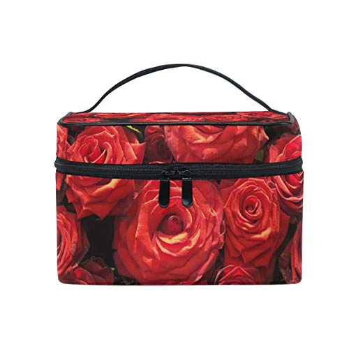 Maquillage sac cosmétique Rose modèle de stockage portable avec fermeture à glissière
