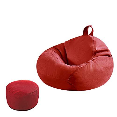 SD Pouf Poire Bean Bag Chaise Canapé Grande Fauteuil avec Repose-Pied avec Poignée avec Fermeture Éclair pour Enfants Et Adultes