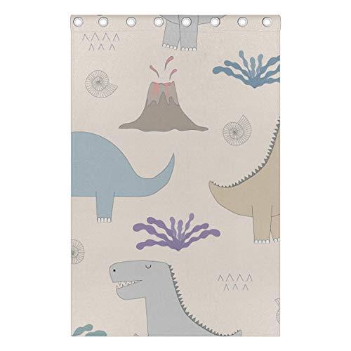 cortinas niños habitacion dinosaurios