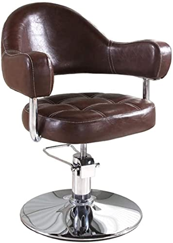 Bar Taburete Sillas de peluquería, sillas de peluquería para todo uso con bomba hidráulica de alta resistencia, 360 grados Rolling Spa Spa Equipo de belleza para el cabello Estilista Mujer hombre, roj