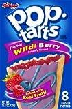 Kelloggs, Pop-Tarts, Wild! Berry, 8 Count, 15.2oz Box (Pack of 6)