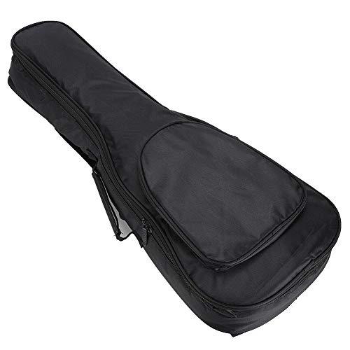 Accesorios para ukelele, bolsa de transporte sólida para ukelele, conveniente de 26 pulgadas, duradera para almacenar cuerdas, libro de música(Black plus cotton bag)