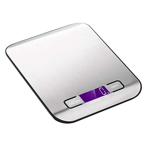 SODIAL Balance de Poids de Cuisine Balance de RéGime Alimentaire en Acier Inoxydable Balance Postale 10KG Digital LED Balance éLectronique de Cuisson Domestique