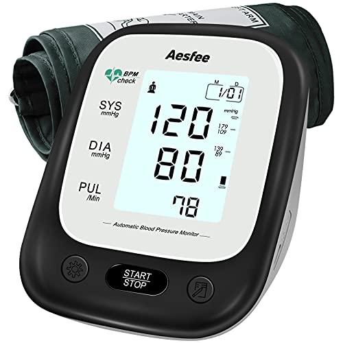 Tensiómetro de Brazo, Monitor de Presión Arterial Automático y Detección de Latidos Irregulares digital, Brazalete 22-36cm, Memoria 2 × 90, Pantalla LCD Retroiluminada …