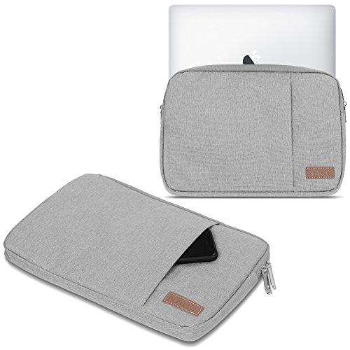 Schutz Tasche Notebook Schutzhülle Tablet Cover Hülle Laptop Ultrabook MacBook, Notebook:TrekStor SurfTab Duo W3 W2 W1, Farbe:Grau (Grey)
