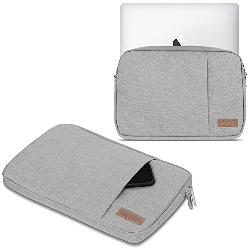 Schutz Tasche Notebook Schutzhülle Tablet Cover Hülle Laptop Ultrabook MacBook, Notebook:TrekStor SurfTab Duo W3 W2 W1, Farbe:Grau