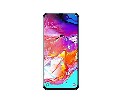 Samsung Galaxy A70 128GB/6GB SM-A705M/DS 6.7' HD+ Infinity-U 4G/LTE Factory Unlocked Smartphone (International Version , No Warranty) (Blue)