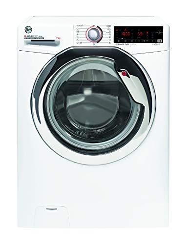 Hoover H-WASH 300 H3WS437TAMCE/1-S Waschmaschine / 7 kg / 1300 U/Min / Smarte Bedienung mit NFC-Technologie / BPM Inverter-Motor / All In One-Technologie / ActiveSteam - Dampffunktion / Symbolblende