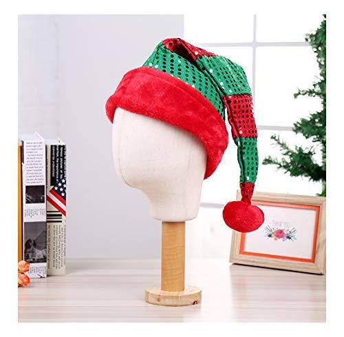 sknonr Decoración de Navidad Viste a la Navidad Cap Lentejuelas Sombrero de...