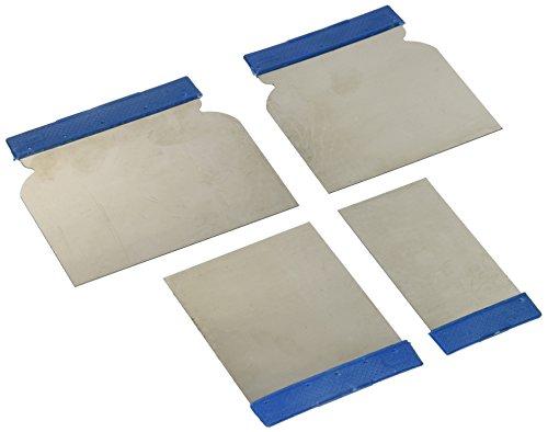 Silverline Tools 427734 - Set Composto da 4 spatole in Acciaio Inox per stuccare la carrozzeria dell'auto