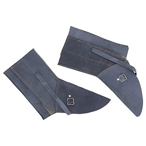 Scicalife Cuero de Vaca Polainas para Soldar Zapatos Protectores para Soldar Cubierta para Los Pies para Soldador Pies Resistentes a Las Llamas Protección de Seguridad (Azul Oscuro)