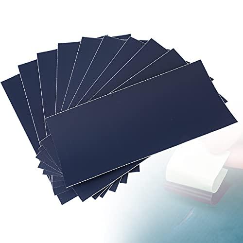 AIEVE - Resistente toppa in nylon, 10 pezzi, kit per riparare forature, impermeabile, per tende, zaini, tappeti per cavalli, piumini, tende, gazebo, materassi gonfiabili (blu scuro)