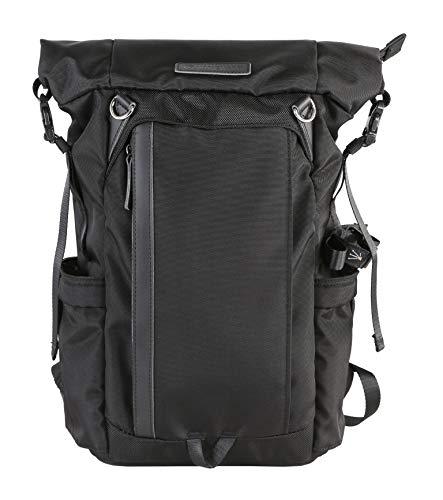 Vanguard VEO GO37M BK Slim Rolltop Rucksack für spiegellose/CSC Kameras, Schwarz
