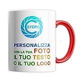 Tazza Personalizzata con foto in Ceramica - 320ml (11oz), idea regalo per Natale, compleanno,...
