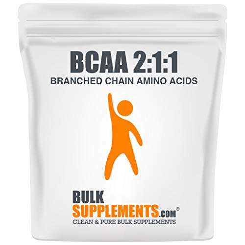 BulkSupplements.com BCAA 2:1:1 (Branched Chain Amino Acids) Powder - BCAA Supplement - Pre-Workout Powder (500 Grams - 1.1 lbs)