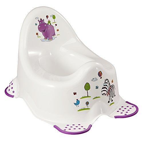 keeeper Hippo Babytopf, Ab ca. 18 Monate bis ca. 3 Jahre, Anti-Rutsch-Funktion, Adam, Weiß