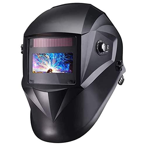 Welding Helmet 3.86' x1.69', Solar Power Auto Darkening Welding Mask, Full Shade Range 3/4-8/9-13, Optical Class (1/1/1/1), 4 Arc Sensor, for TIG MIG MAG -PAH04D