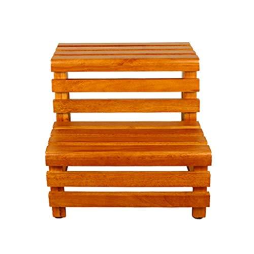 Household Necessities/badkamerkruk kruk emmer hout trapbank trapbank badmat stevig en waterdicht 46CM*42CM*42CM Houtkleur.