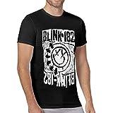 Trikahan Men Blink 182 EU Deck T-Shirt Happy Face Logo Sleeve Shirt Black M