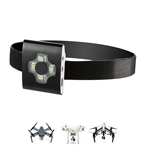 LeWu UAS Drone LED Strobe Light for Night Flights, UAV Locator Strobe Light Fits All Multirotor Quadcopter DJI Inspire Phantom Mavic RC Aircraft Yuneec Typhoon, UAV Drones FAA Approved Compliant