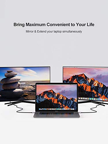 USB C to HDMI Cable with HDR 4K@60Hz, 2K@144Hz, 2K@120Hz, CableCreation USB Type C to HDMI Adapter Thunderbolt 3 Compatible for MacBook Pro/Air, iMac, iPad Pro 2020, Galaxy S20 S10/Note 10 and More