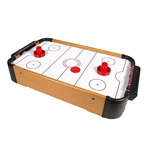 Tisch Air Hockey Set Air Hockey Tabletop-Spiel mit Gebläse, Pucks und Drücker, tragbar, Zubehör aus Holz MDF-Spiel für Geburtstagsfeiertage