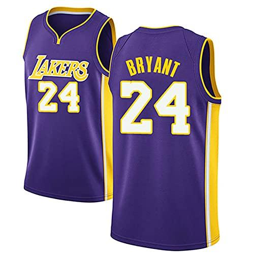 DDSGG Maglia NBA dei Tifosi, Squadra di Basket NBA Lakers 24# Kobe Bryant T-Shirt Comoda e Leggera, Top Sportivo per Adult