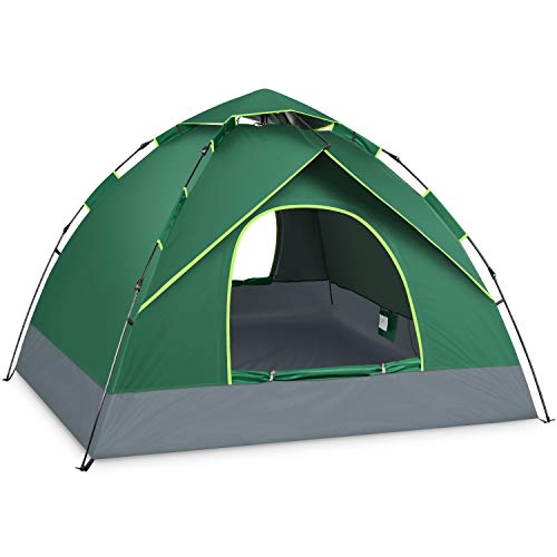 BATTOP 4 Person Tent for Family Camping Instant Pop Up Tents 4 Seasons Waterproof Tent for Outdoor (All-Season)