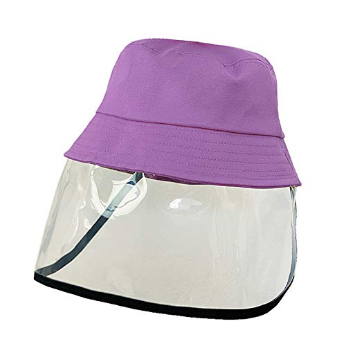 XIEJ Sombrero Protector para los Ojos del Cubo de los niños, Anti-Saliva Clear Safety Sombrero Completo para la Cara Sombrero Anti-escupir Pescador Desmontable para niños Niñas...