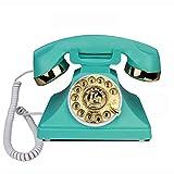 SXRDZ Teléfono Fijo para el hogar Antiguo Antiguo TELÉFONO TELÉFONO TELEFONO TELEFONOS ROTARIOS Teléfono de Escritorio de línea Fija Retro, Teléfono con Cable para el hogar y la decoración, teléfonos