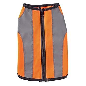 Vest de Pet réfléchissant Visibilité Haute Visibilité Chien Sécurité Vest léger Confortable Coyote Gilet pour Petits Chiens Gardez Les Chiens en sécurité (Color : Orange, Size : XL)