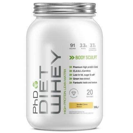 PhD Diet Whey, Cookies and Cream, 500 g