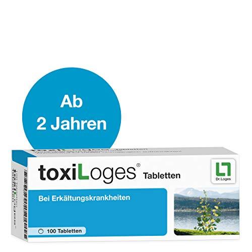 toxiLoges® Tabletten 100 Tabletten - Multikomplex für alle Phasen der Erkältung - Homöopathisches Arzneimittel für Kinder ab 2 Jahre bei den häufigsten Beschwerden wie Halsschmerzen, Schnupfen, Husten