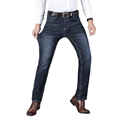 Jubaton Jean Comfort Stretch Straight Fit para Hombre y Jean Classic Regular Fit, Pantalones de Pierna Recta Casual de Negocios de Moda 40