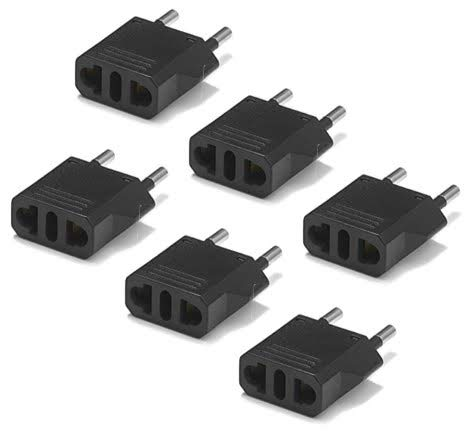 United States to Afghanistan Travel Power Adapter to Connect North American Electrical Plugs to Afghan outlets For Cell Phones, Tablets, eReaders, and More (6-Pack, Black)
