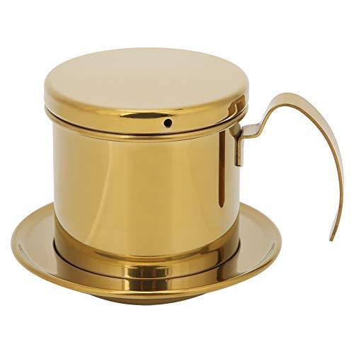 Filtro Per Caffè Vietnamita, Pentola Per Caffettiera a Goccia Singola in Acciaio Inossidabile(d'oro)