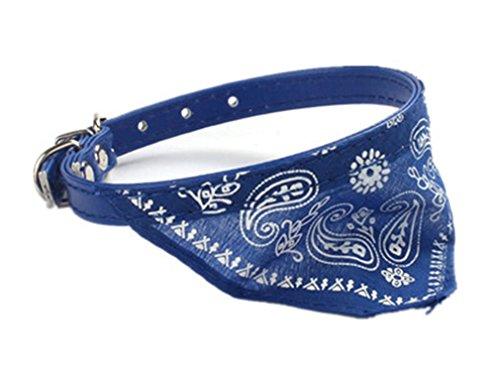 Accessoires Collier pour Chien Kolylong Collier Chien Chien Chat Chiot De Lit Coussin Maison Douce Et Chaude Blanket Kennel Mat Dog 30.5 * 0.9cm (Bleu)