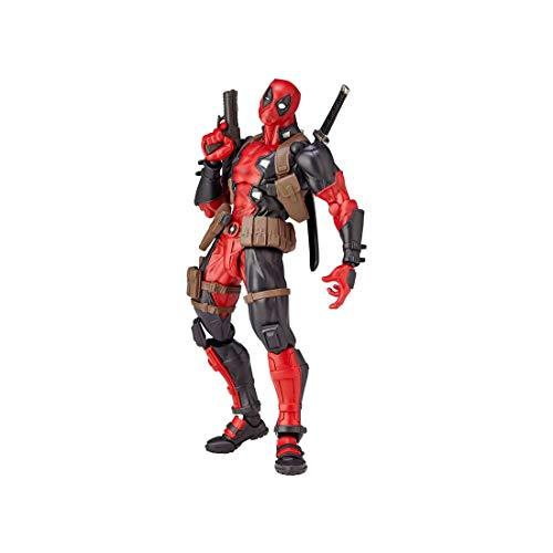 Bulex Deadpool Figure, 15cm PVC Collectible Action Figure Toys, Hand-Made Model Dolls Desktop Decoration