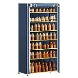 Zapateros independientes Estante for zapatos de 7 niveles con cubierta a prueba de polvo Armario Armario for guardar zapatos Organizador de entrada Entrada Organizador de zapatos Dormitorio Corredor d