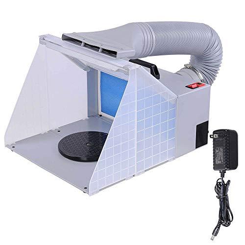 Yonntech Extractor de Aerógrafo 4 m³/min AERÓGRAFO Cabina DE Pintura E420 COMPRESOR Filtro de Color Vapor de Pintura Equipo de aspiración