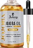 Kanzy Aceite de Jojoba Bio 100% Puro 120ml Orgánico Prensado en Frio Vegano Natural Hidratante para Cabello, Cara, Cuticulas, Cuerpo y Uñas Jojoba Oil Sin Hexano