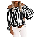 Rouped Camiseta Mujer Y2k Hombro al Aire Oversize : Hippie Blusas Mujer Verano,RC1048